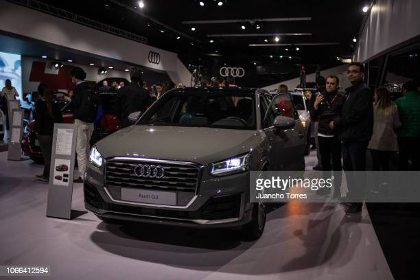 An Audi q2 is displaying during the International Motor Show Bogota 2018 at Corferias Convention Center on November 11 2018 in Bogota Colombia