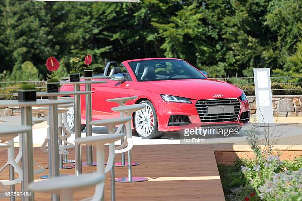An Audi shuttle car is seen ahead of the Audi Night 2015 on July 31 2015 in Berchtesgarden Germany