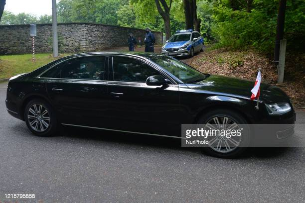 An Audi with Andrzej Duda the current President of Poland seen in Alwernia On Wednesday May 27 in Alwernia Poland