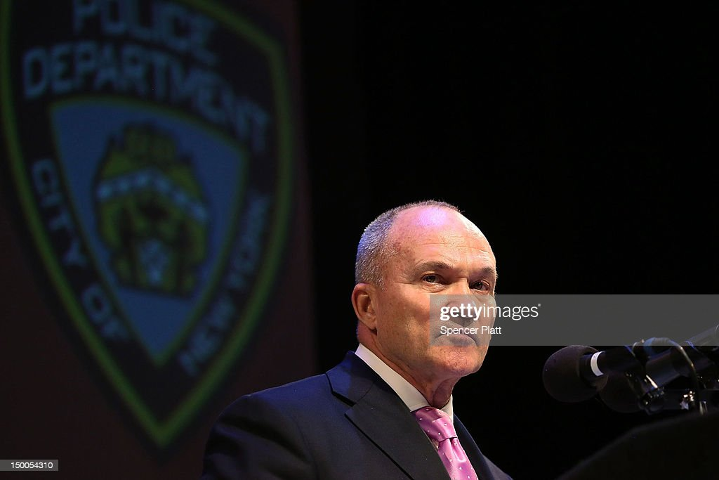 An audience member listens as New York City Police Commissioner Raymond Kelly speaks at the Business Expo and Employment Fair at Columbia University which is part of Harlem Week on August 9, 2012 in New York City. Kelly addressed the police departments stop -and- frisk policy which has drawn criticism from many area black leaders and community members as they tactic has overwhelmingly targeted members of the latino and African Americans communities.