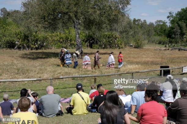 An audience watching the Big Cypress Shootout event at Billie Swamp Safari
