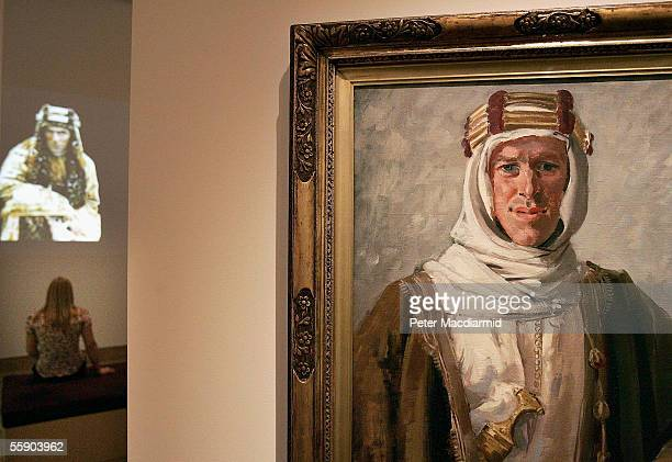 An Augustus John portrait of T E Lawrence is seen in a new exhibition 'Lawrence of Arabia the life the legend' at the Imperial War Museum on October...