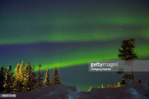 An aurora sometimes referred to as polar lights northern lights is produced when the magnetosphere is sufficiently disturbed by the solar wind that...