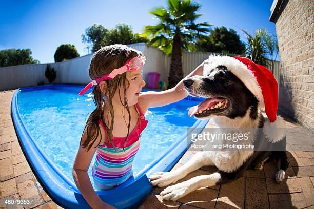 An Australian Christmas around the swimming pool