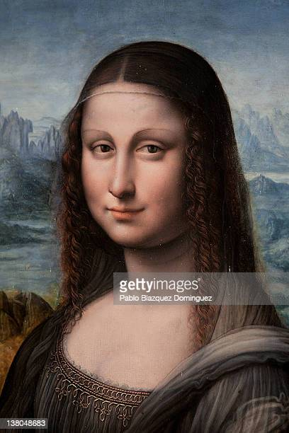 An authenticated contemporary copy of Leonardo da Vinci's Mona Lisa on display at the Prado Museum on February 1 2012 in Madrid Spain Experts of the...
