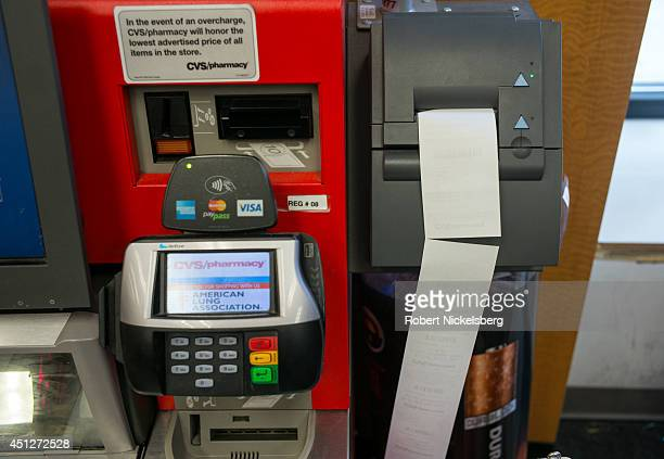 An auto checkout machine is viewed June 10 2014 at a CVS Pharmacy in Brooklyn New York