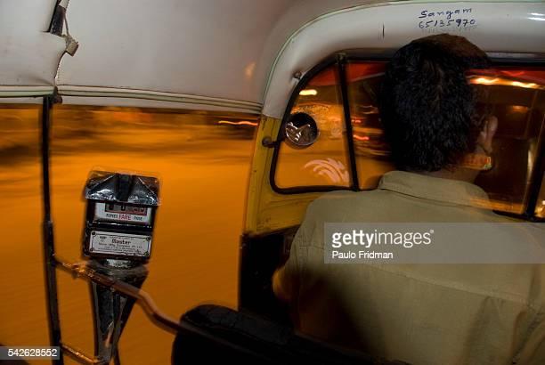 An auto rickshaw in Mumbai Maharastra India