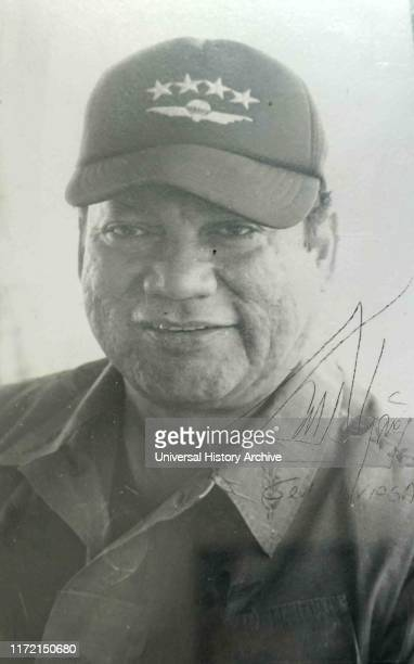 An autographed photograph of General Manuel Noriega. Manuel Antonio Noriega Moreno was a Panamanian politician and military officer who was the de...