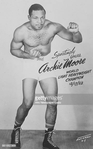 An autographed photography of Archie Moore AfricanAmerican professional boxer and the Light Heavyweight World Champion December 17 1952