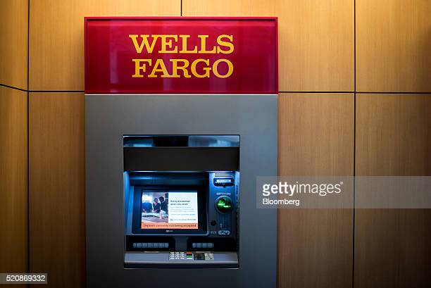 An automated teller machine stands inside a Wells Fargo Co bank branch in Chicago Illinois US on Saturday April 9 2016 Wells Fargo Co is scheduled to...