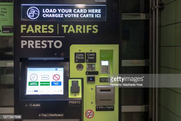 An automatic Presto Fares Machine inside a subway station in the downtown district. The TTC is giving the final touches to the total implementation...