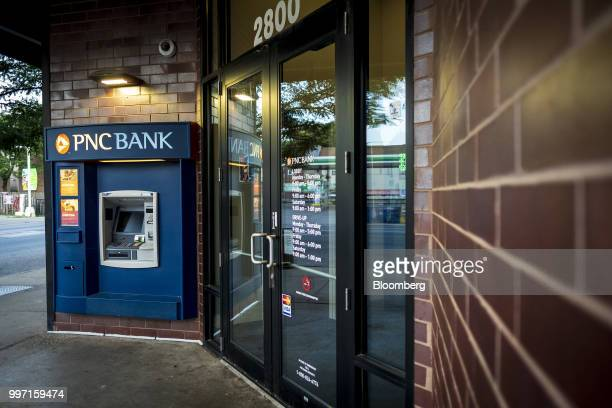 An automatic teller machine stands outside a PNC Financial Services Group Inc bank branch in Chicago Illinois US on Thursday July 12 2018 PNC...