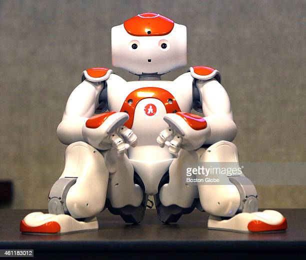 An autonomous, programmable humanoid robot developed by Aldebaran Robotics, a French startup company headquartered in Paris is seen during a company...