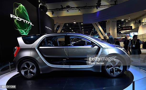 An autonomous selfdriving concept vehicle called Portal is diplayed at the Chrysler booth at CES 2017 at the Las Vegas Convention Center on January 5...
