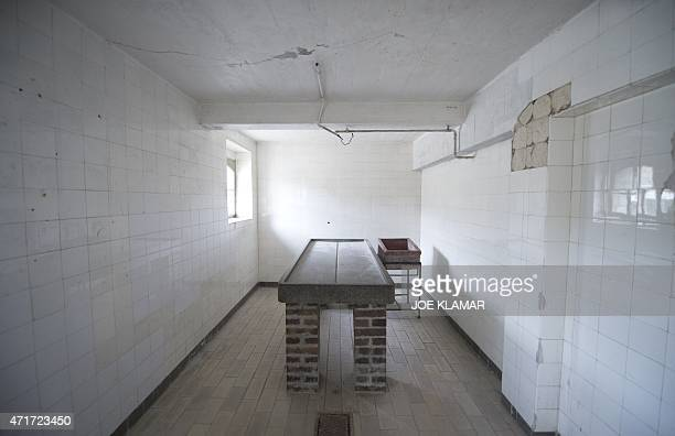An autopsy table is pictured in the autopsy room of former Nazi concentration camp Mauthausen northern Austria on April 28 2015 AFP PHOTO / JOE KLAMAR