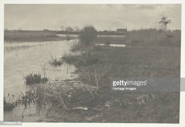 An Autumn Morning, 1886. A work made of platinum print, pl. Xxxviii from the album 'life and landscape on the norfolk broads' ; edition of 200....