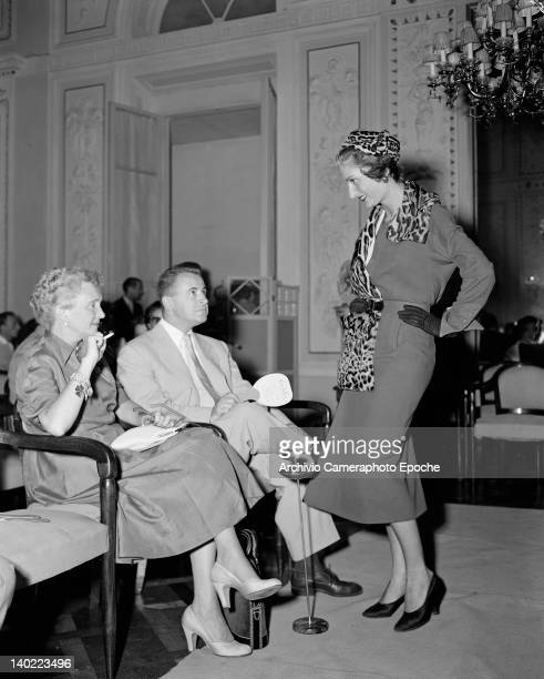 An Autumn/Winter 1951/1952 fashion show for American buyers in Florence Italy 21st July 1951