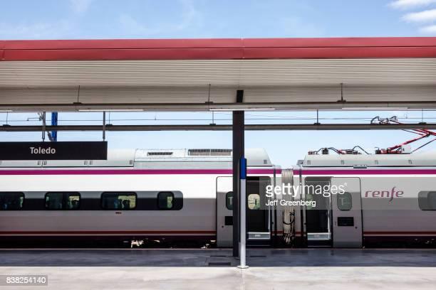 An AVE highspeed train at Toledo railway station