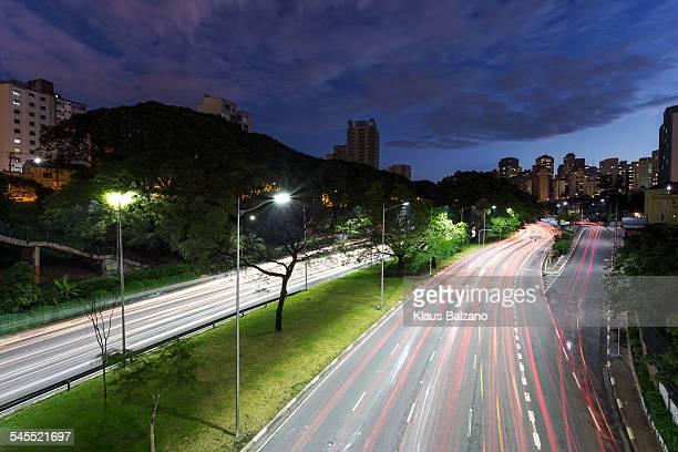An Avenue of Sao Paulo City