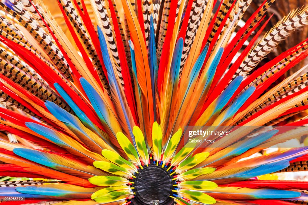 An Aztec Headdress In Mexico City High-Res Stock Photo - Getty Images
