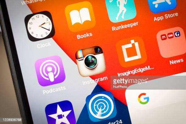 An classic version of the Instagram icon application design is seen in this photo illustration taken in Warsaw, Poland on October 7, 2020. Instagram...