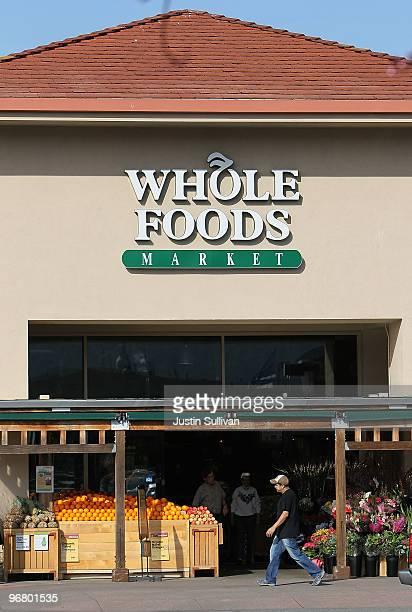 An customer walks by the entrance to a Whole Foods store February 17 2010 in San Rafael California Whole Foods Market reported a 79 percent surge in...