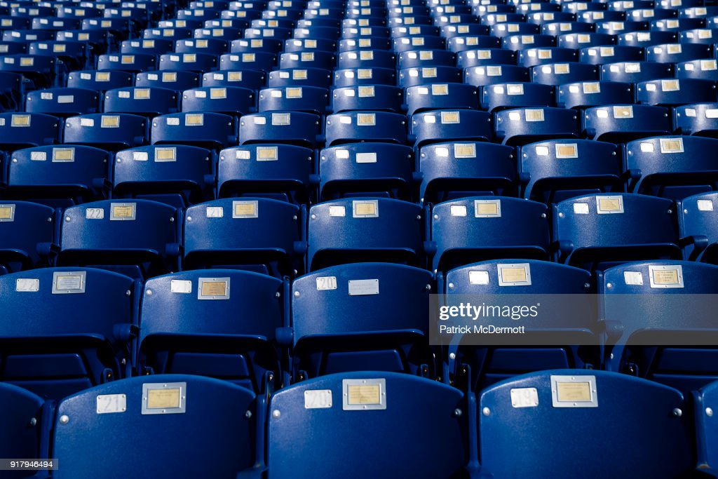 An detail view of seats during a tour of the Navy-Marine Corps Memorial Stadium, the site of the 2018 Coors Light NHL Sadium Series game between the Toronto Maple Leafs and Washington Capitals, on February 13, 2018 in Annapolis, Maryland.