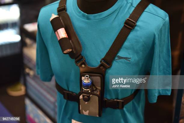 An E Cigarette holster on display during the Vape Jam UK 4 at ExCel on April 6 2018 in London England Vape Jam UK the premier Electronic Cigarette...