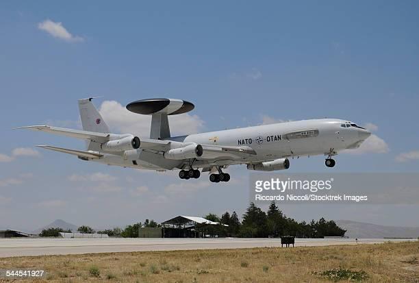 An E-3A AWACS of NATO landing at Konya Air Base, Turkey, during Exercise Anatolian Eagle 2013.