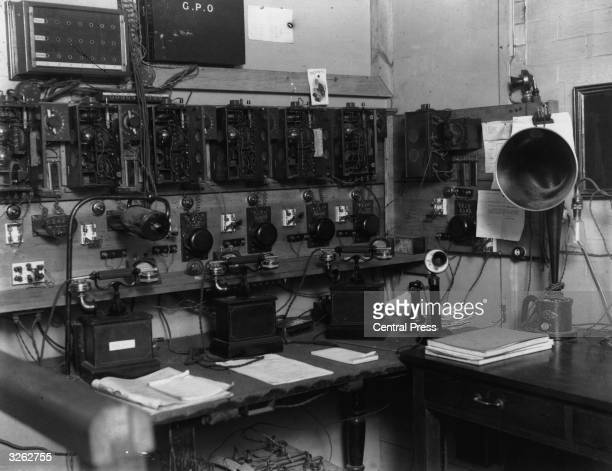 An early BBC broadcasting station at Savoy Hill in London