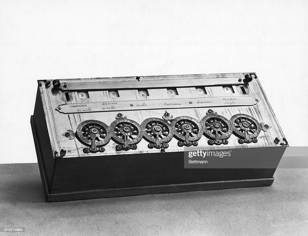 an early calculating machine invented by french scientist and