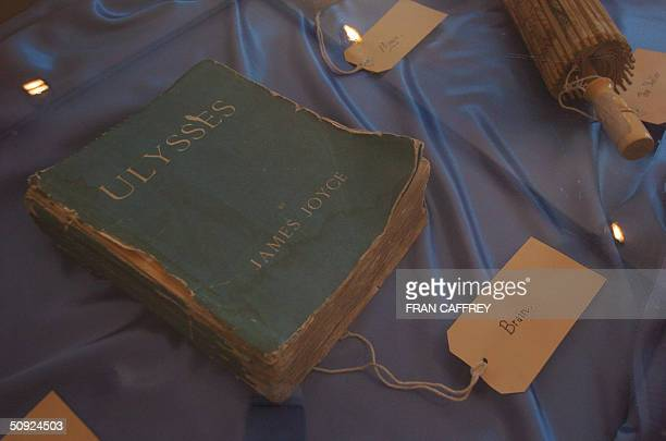 An early edition of one of Dublin's most famous literary masterpieces 'Ulysses' by Irishman James Joyce is pictured 15 May 2004 in the James Joyce...