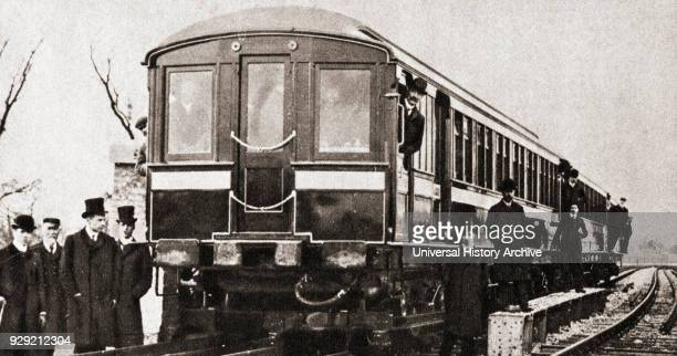 An early electric train From The Pageant of the Century published 1934