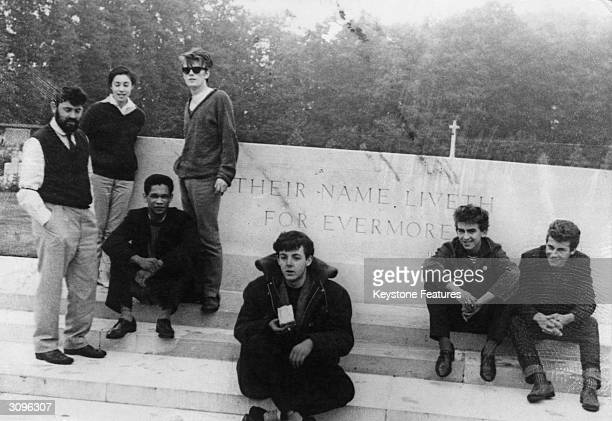 An early incarnation of the Beatles photographed possibly by John Lennon at the Arnhem War Memorial in the eastern Netherlands during a journey to...