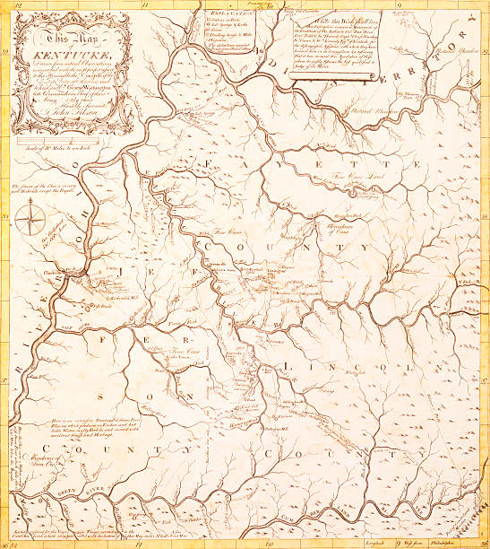 Early Map of Kentucky Territory Pictures | Getty Images