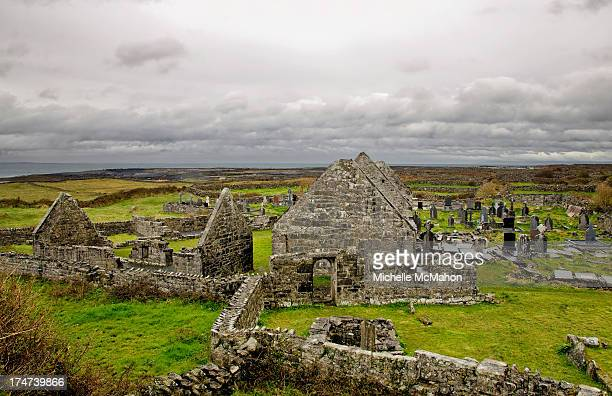 An early monastic settlement called the Seven Churches. There was actually only one church here, the rest of the buildings are where the resident...