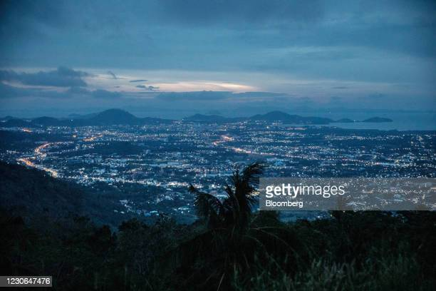 An early morning view of Phuket from the Big Buddha Statue in Phuket, Thailand, on Sunday, Dec. 20, 2020. The tepid response to Thailands highly...