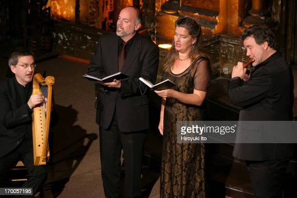 An early music ensemble Sequentia presents Lost Songs of a Rhineland Harper at Angel Orensanz Foundation on Wednesday night October 20 2004This...