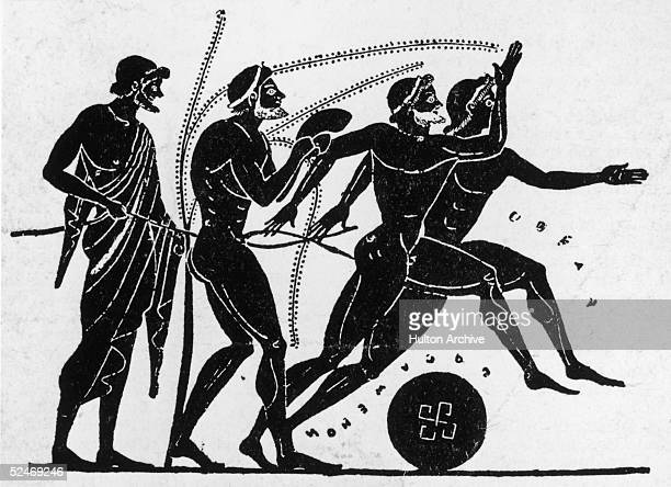 An early Olympiad depicted on a 5th century BC black figure Greek vase
