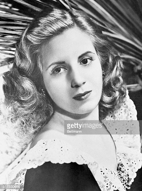 An early photo of Eva Duarte 19191952 prior to her infamous marriage A radio and screen actress before her marriage in 1945 to be the 2nd wife of...