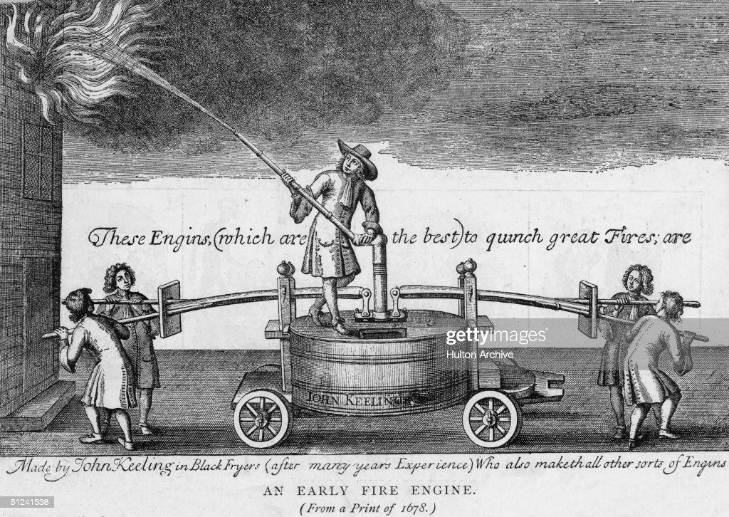 Early Fire Engine : News Photo