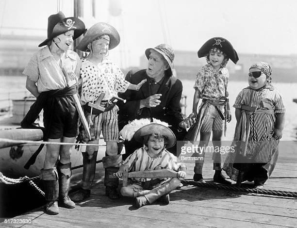 An early silent Our Gang comedy The Buccaneers LR Andy Samuel Mickey Daniels Allan Cavan Mary Kornman Joe Cobb and Jackie Condon and Joe Cobb
