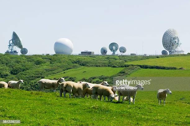 An early warning radar station near Kilhampton Devon UK