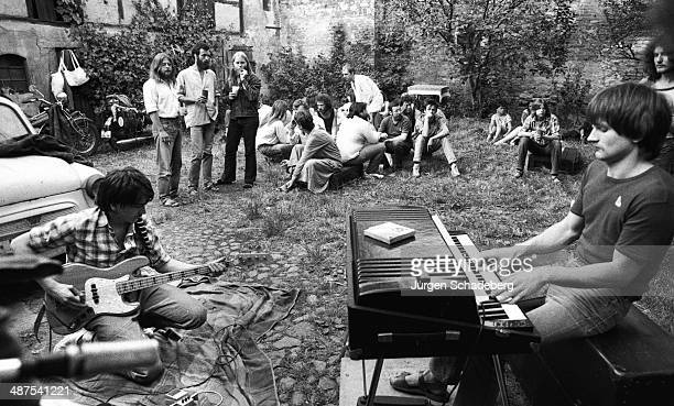 An East Berlin blues band with their 'sinful' western instruments East Berlin Germany 1982