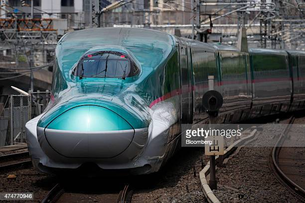 An East Japan Railway Co E5 series Shinkansen bullet train departs from Tokyo Station in Tokyo Japan on Sunday May 24 2015 Japan was first in the...