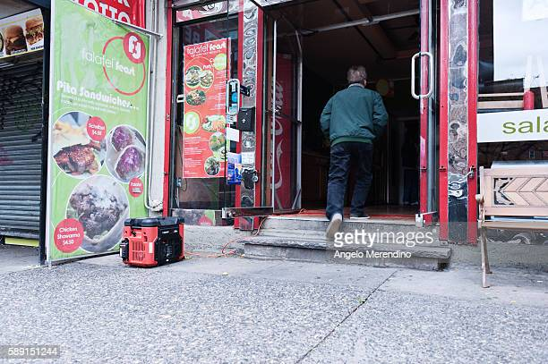 An East Side bodega overcomes the lack of power caused by Hurricane Sandy with a generator Much of Lower Manhattan is still without power 2 days...
