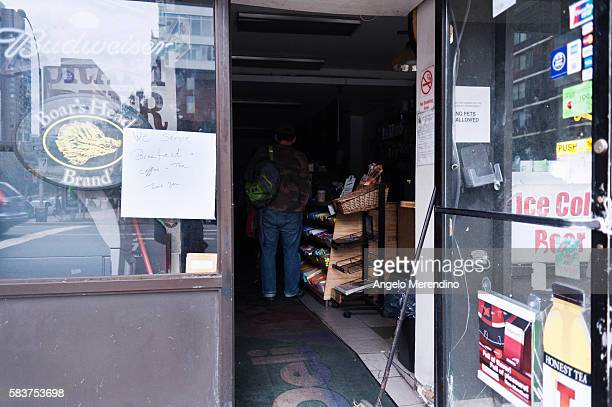 An east side bodega serves breakfast coffee and tea to residents Much of Lower Manhattan is still without power 2 days after Hurricane Sandy