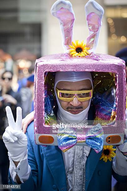 An Easter parade participant takes part in the 2011 Easter Parade and Easter Bonnet Festival on April 24, 2011 in New York City. The parade is a New...