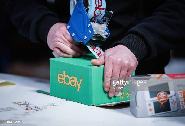 An eBay delivery parcel is prepared for shipping at an eBay seller warehouse on April 5 in London, England. The original disruptor of the e-commerce...