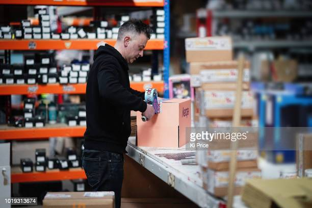 An eBay delivery parcel is prepared for shipping at an eBay seller warehouse on April 5 in London England The original disruptor of the ecommerce...